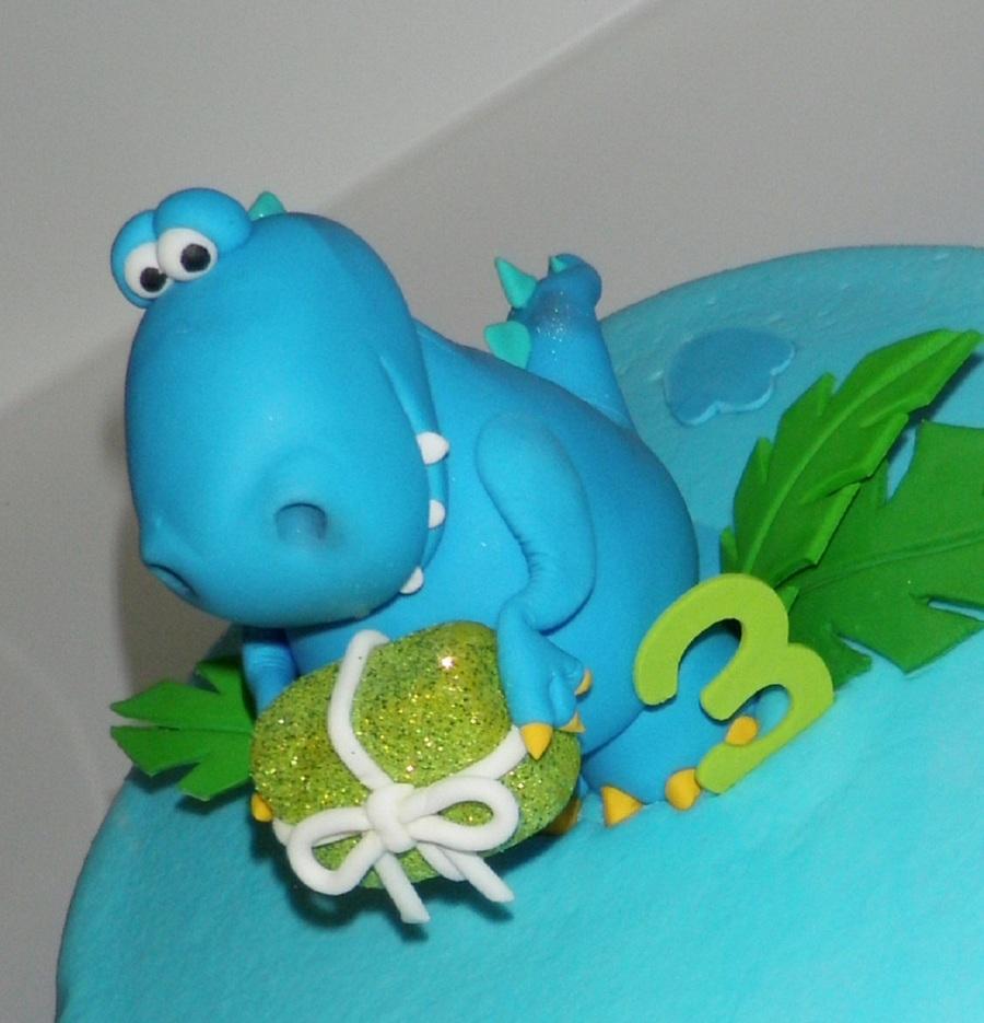 Blue Dinosaur CakeCentralcom