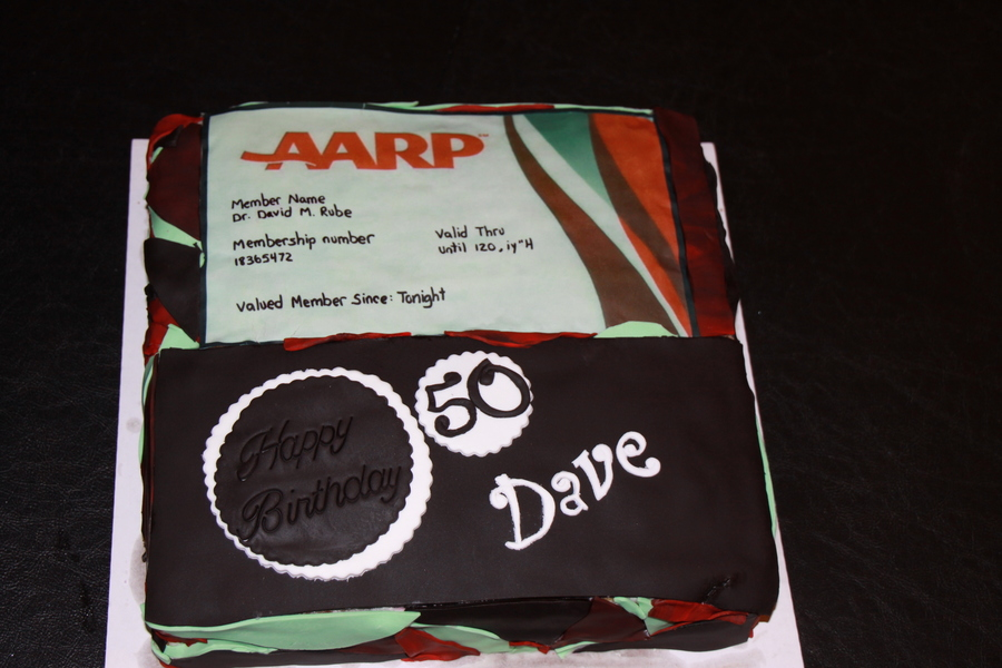Aarp Card - 50Th Bday on Cake Central