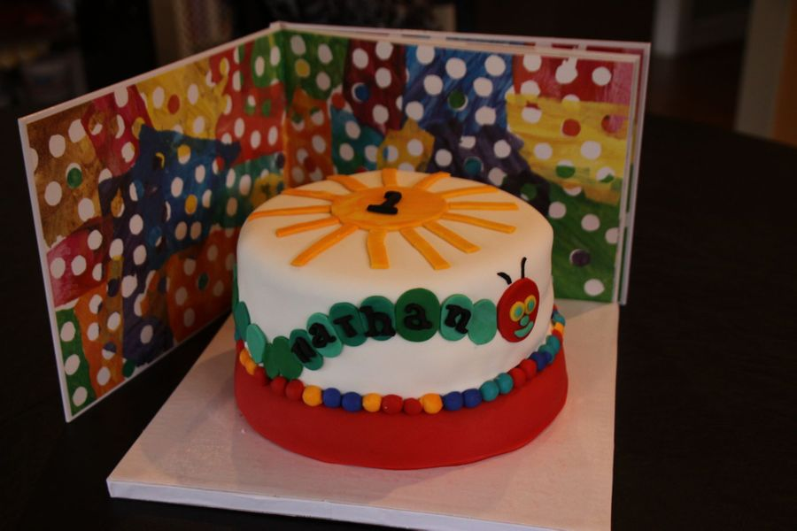 Cool The Very Hungry Caterpillar Birthday Cake Cakecentral Com Personalised Birthday Cards Veneteletsinfo
