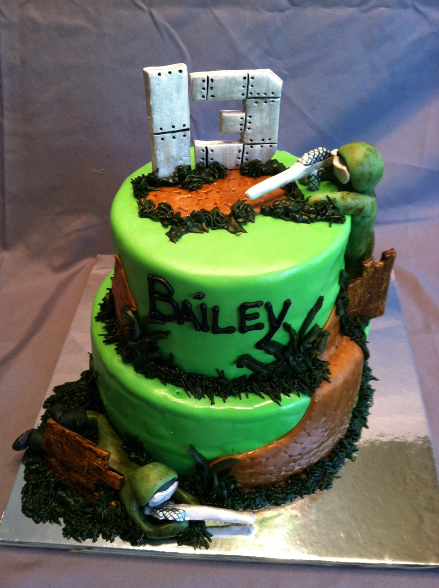 Paintball Themed 13th Birthday Cake Cakecentralcom