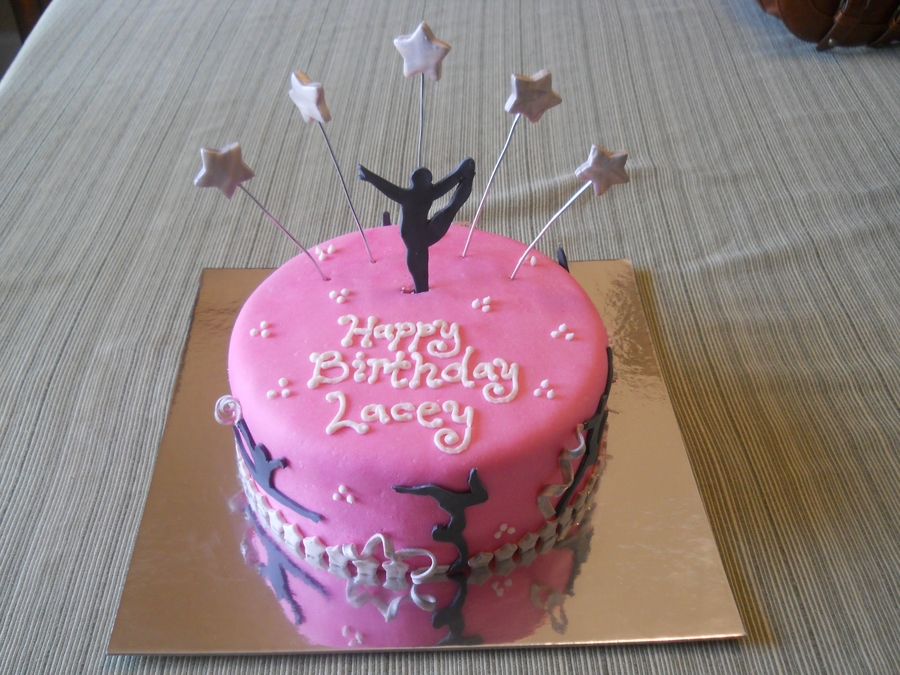 Excellent Gymnastics Birthday Cake Cakecentral Com Personalised Birthday Cards Petedlily Jamesorg