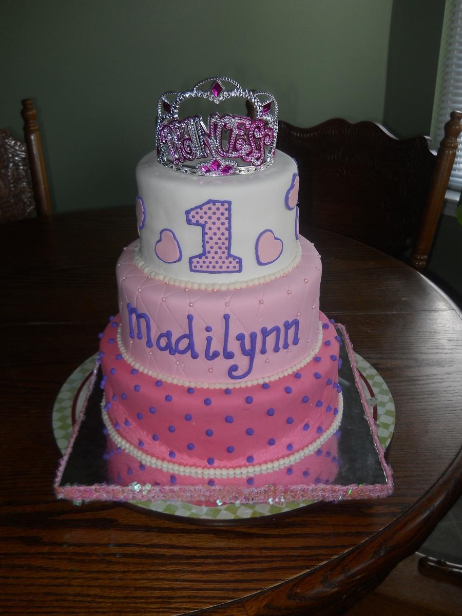 Princess First Birthday CakeCentralcom