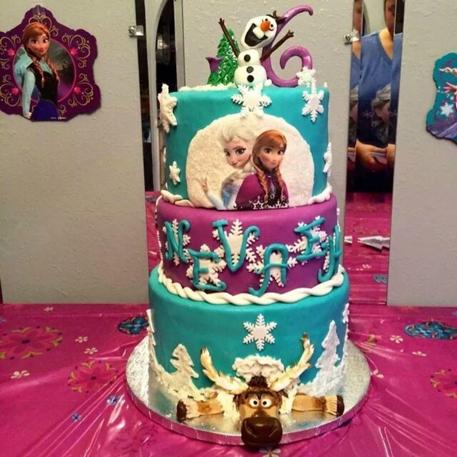 Elsa And Anna Cake Decoration : Disney Frozen Cake - CakeCentral.com