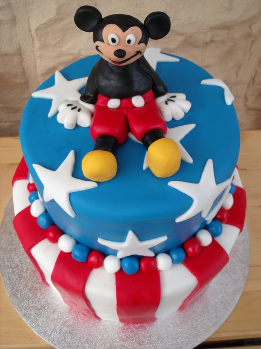 American Flag With Mickey Cakecentral