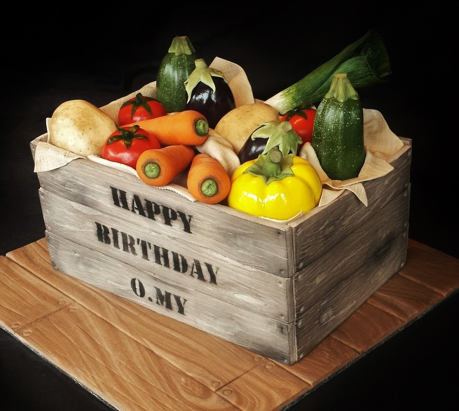 Realistic Vegetable Crate Cake - CakeCentral.com