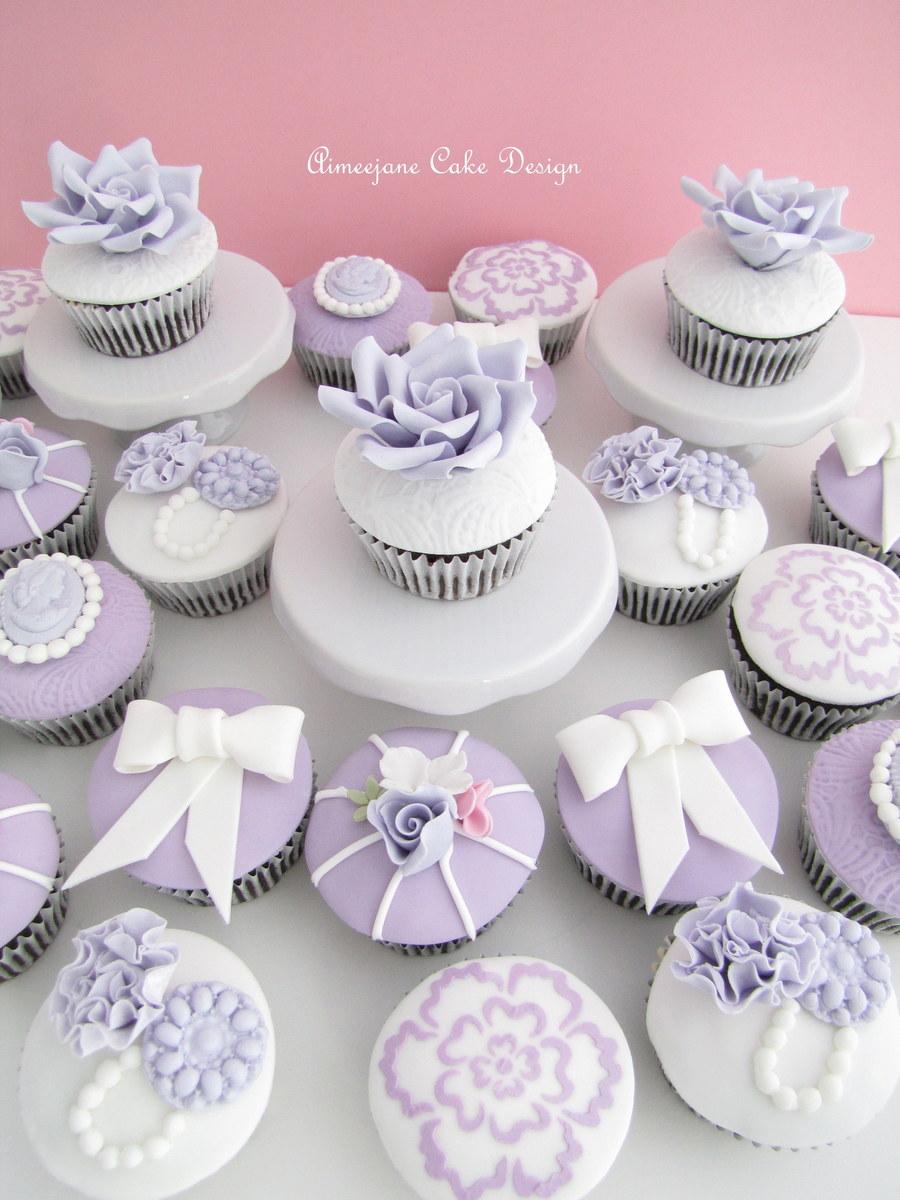 Lavender Vintage Wedding Cupcakes Cakecentral Com