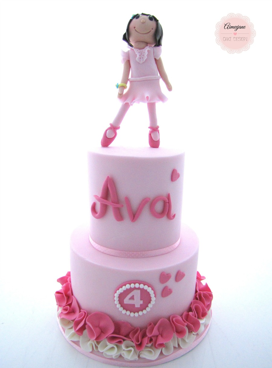 Ballerina Birthday Cake  on Cake Central