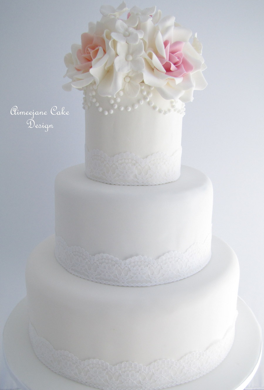 light pink and white wedding cakes a wedding cake i made for a wonderful with apricot 16873