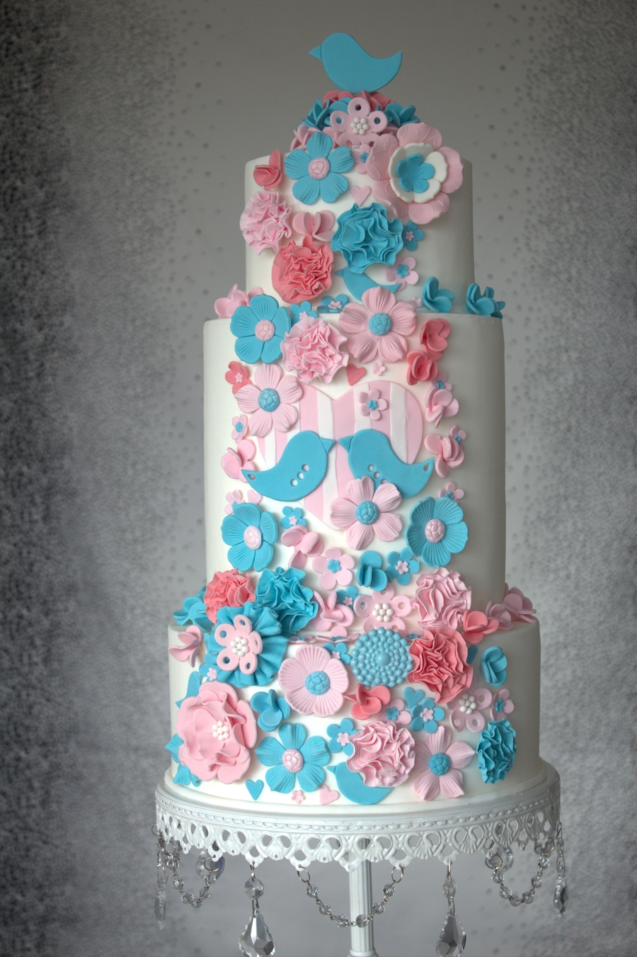 turquoise green and pink wedding cakes pink and teal wedding cake cakecentral 21307