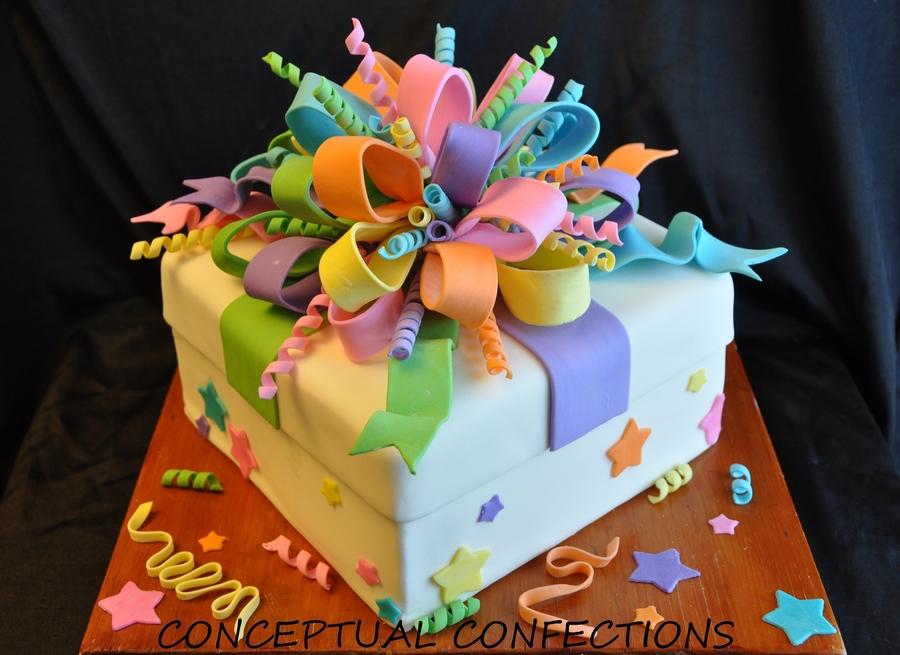 Present Shaped Birthday Cakes