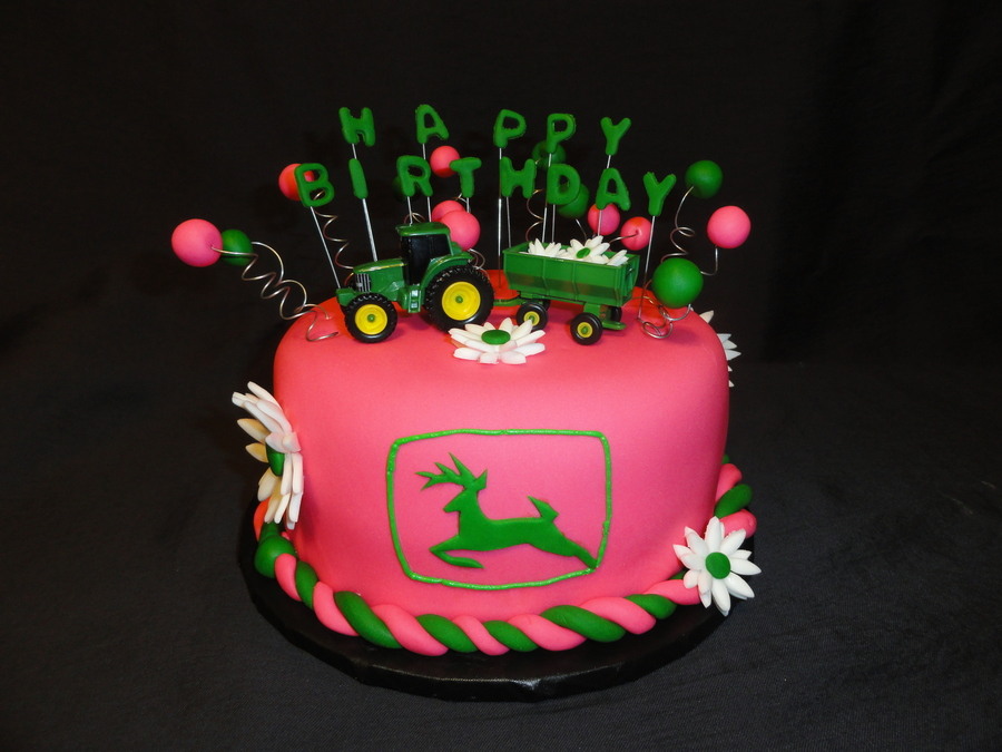 Girly John Deere Paintings : Girly john deere cakecentral