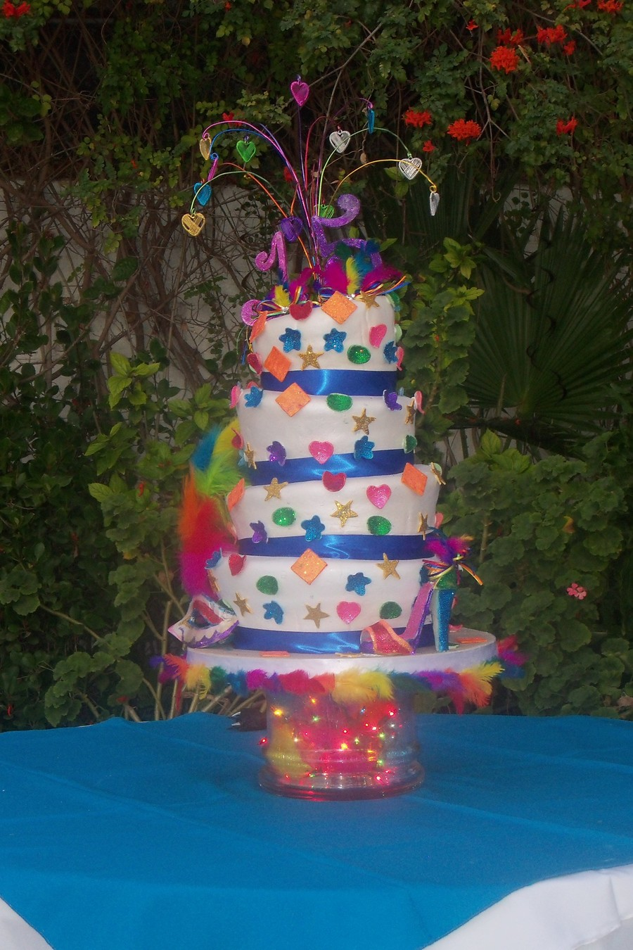Carnival Topsy Turvy Cake on Cake Central