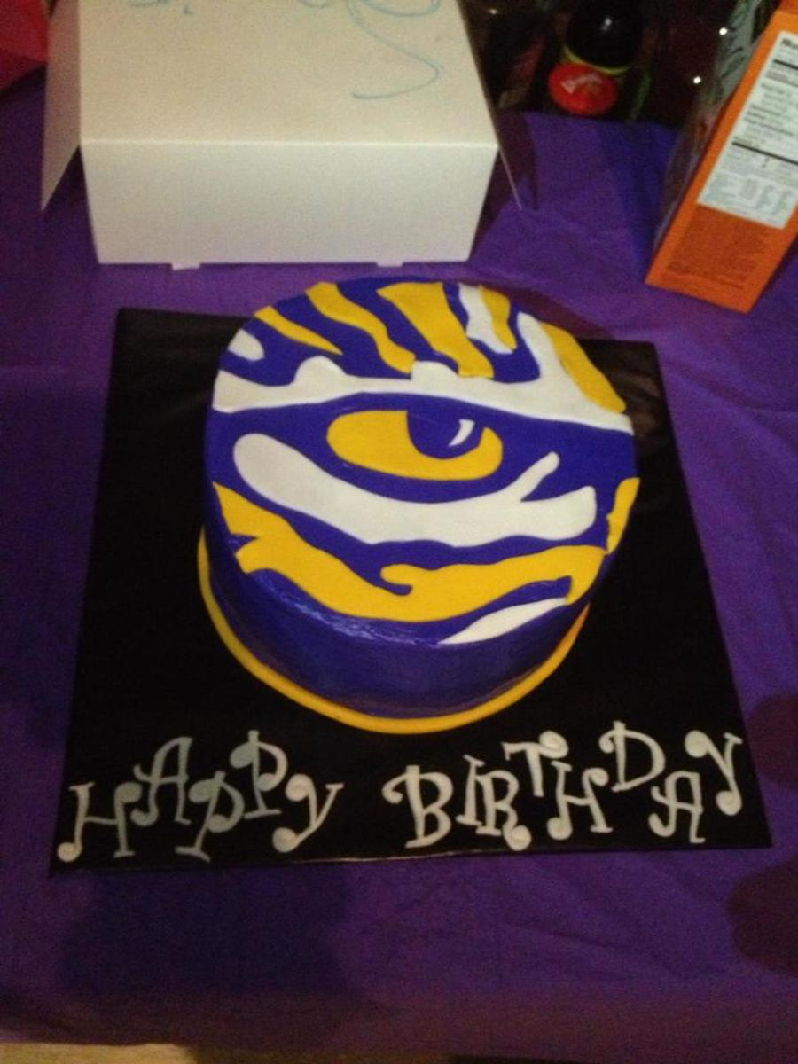 Lsu Tiger Eye on Cake Central
