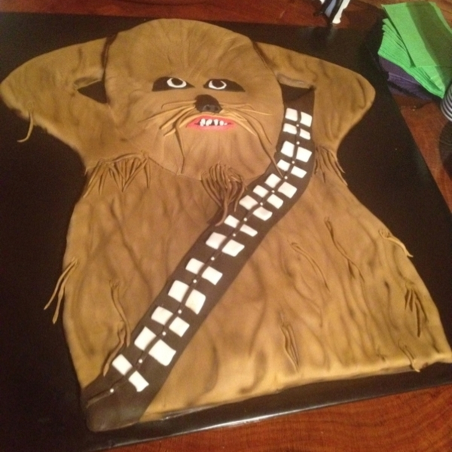 Chewbacca Cookie Cake on Cake Central