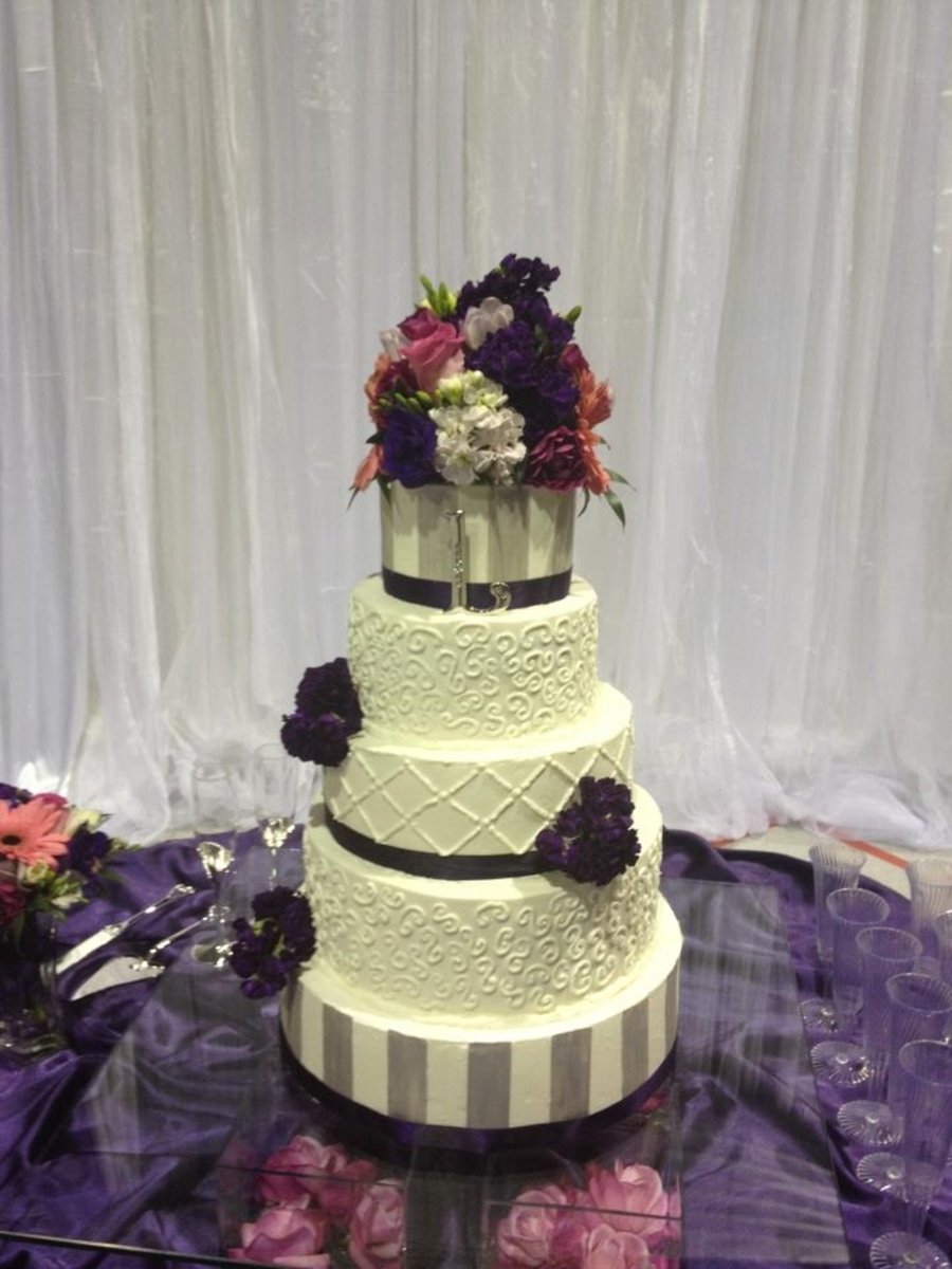 5 Tier Traditional Wedding Cake on Cake Central