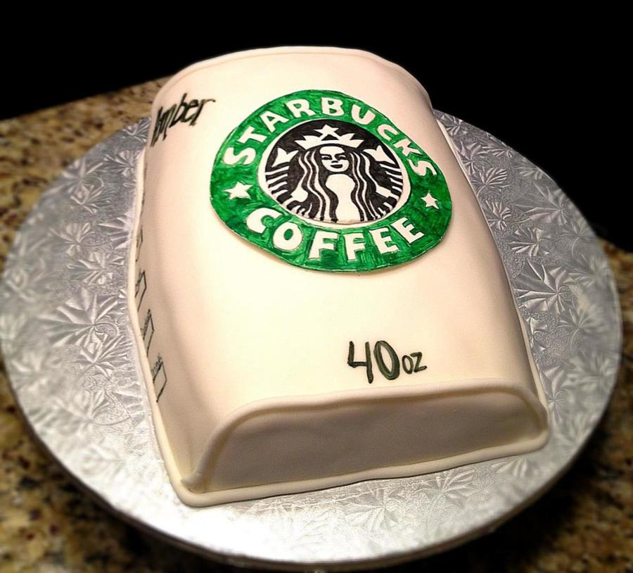 Starbucks Cake Was Coffee Flavor With Caramel Drizzle on Cake Central
