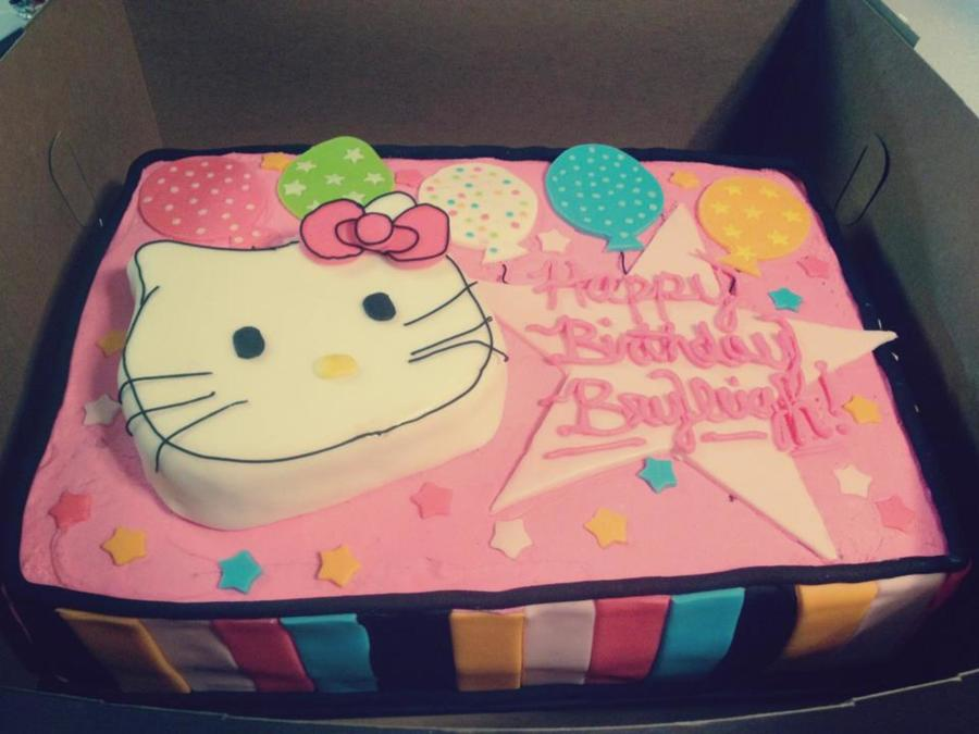 Hello Kitty Sheet Cake on Cake Central