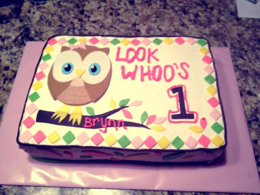 Owl 1St Birthday!  on Cake Central