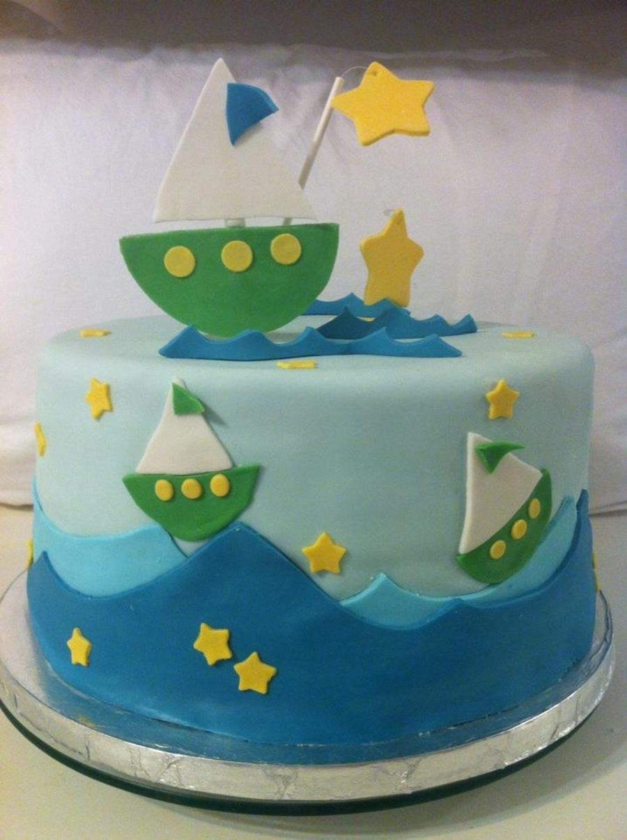 Sailboat Baby Shower  on Cake Central