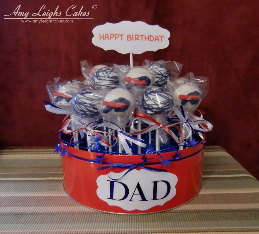 Buffalo Bills Cake Pops on Cake Central