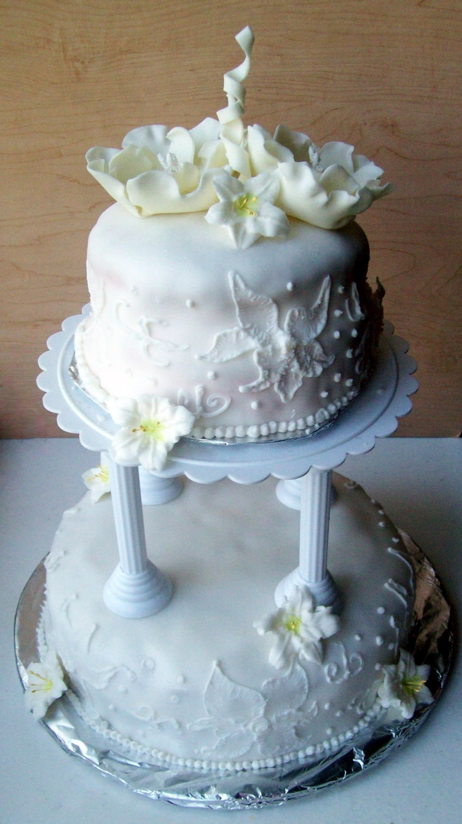 Practice Wedding Cake on Cake Central