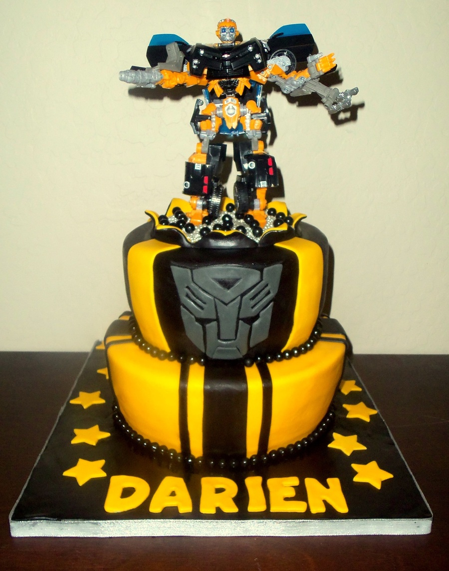 Transformers Bumblebee Birthday Cake