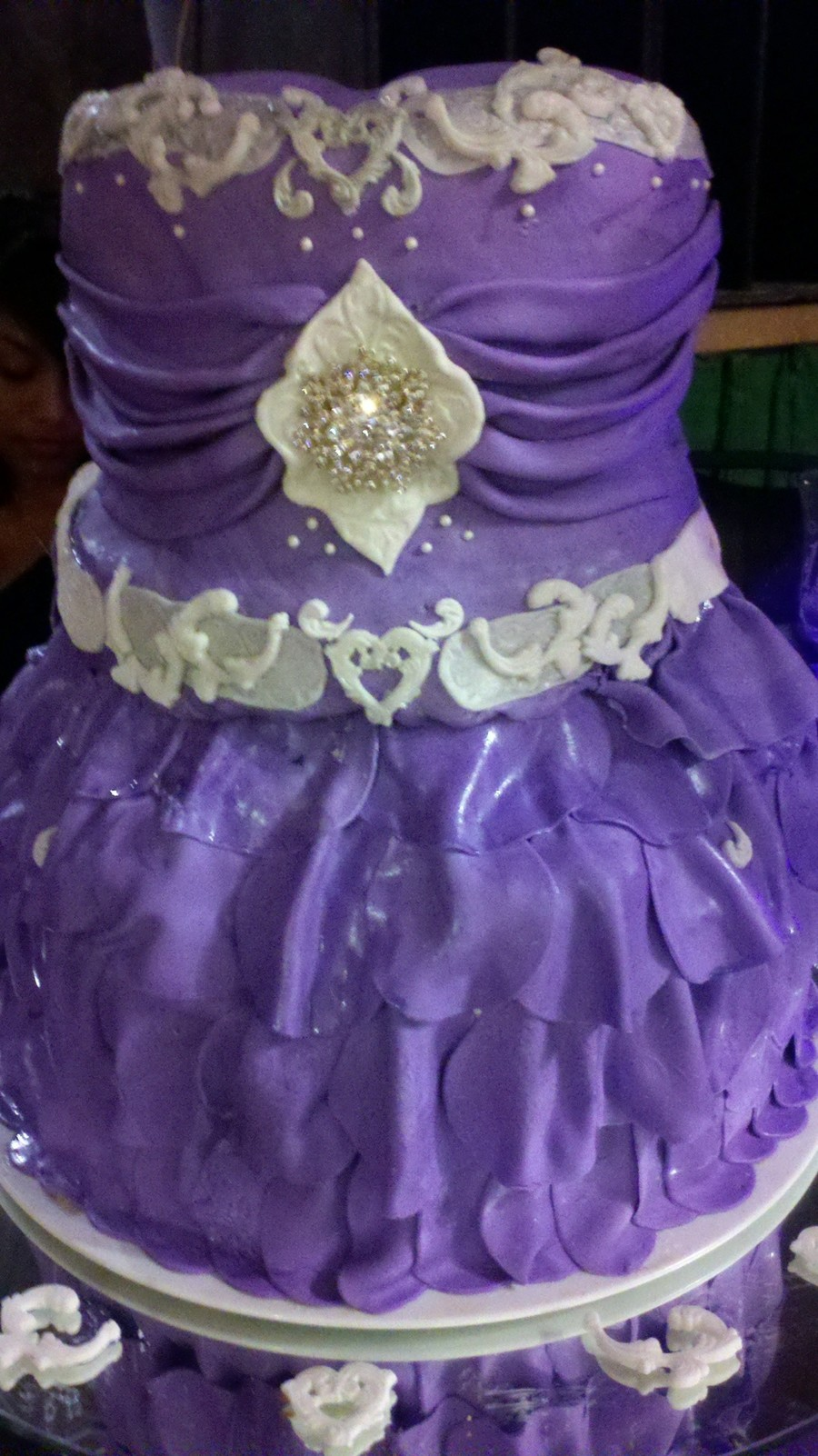 Purple Quinseanera Cake  on Cake Central