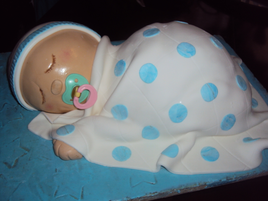 Sleeping Baby on Cake Central