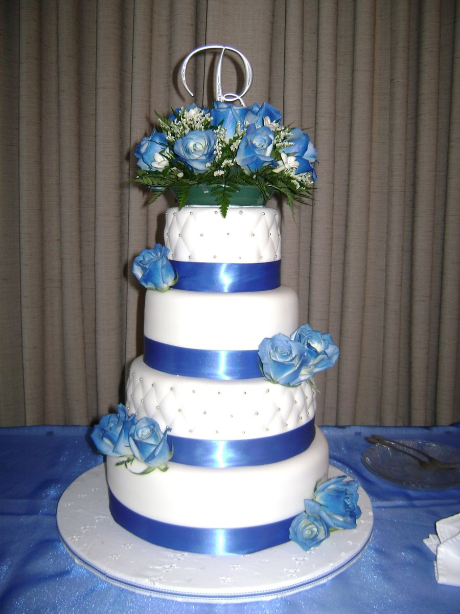 Royal Blue, Silver, And White on Cake Central