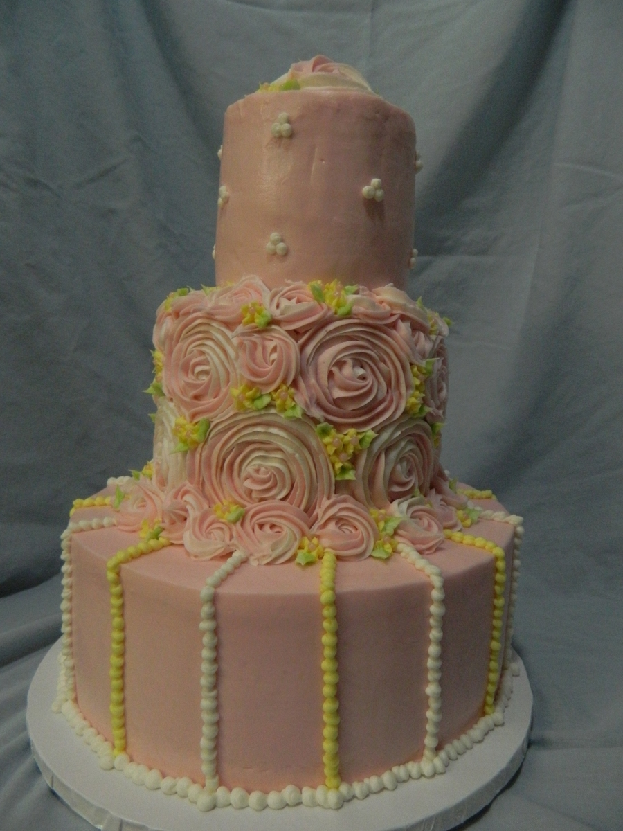 Buttercream Rose Swirls In Pink on Cake Central