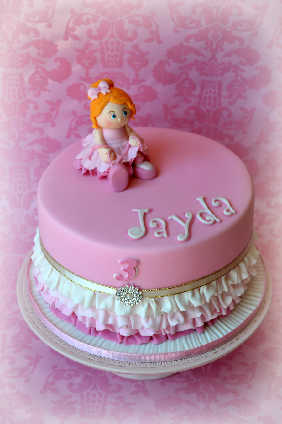 Birthday Cake Pics For Little Girl : Birthday Cake For A Little Girl Who Loves To Dance The ...