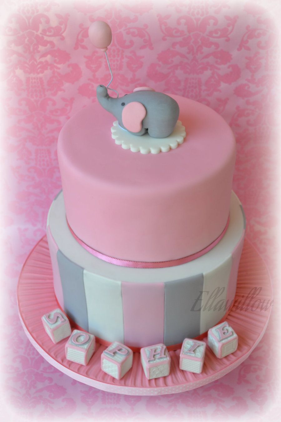 Agggggh Cake Central Still Have Not Created A Christening Cakes Section So Once Again I Will Put This Cake Under Baby Showers Two Tier  on Cake Central