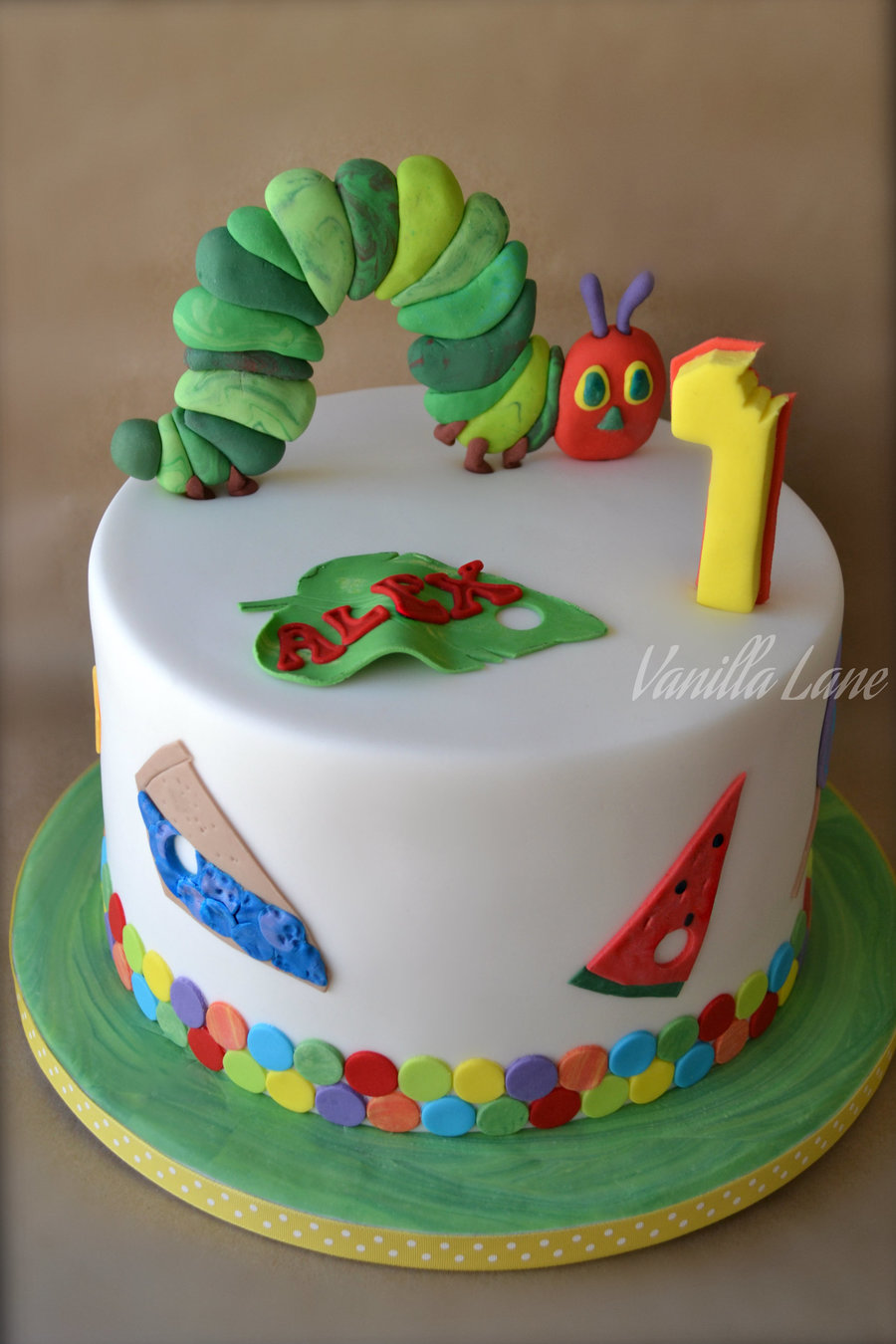 hungry caterpillar cake hungry caterpillar themed cake cake was vanilla with 5037