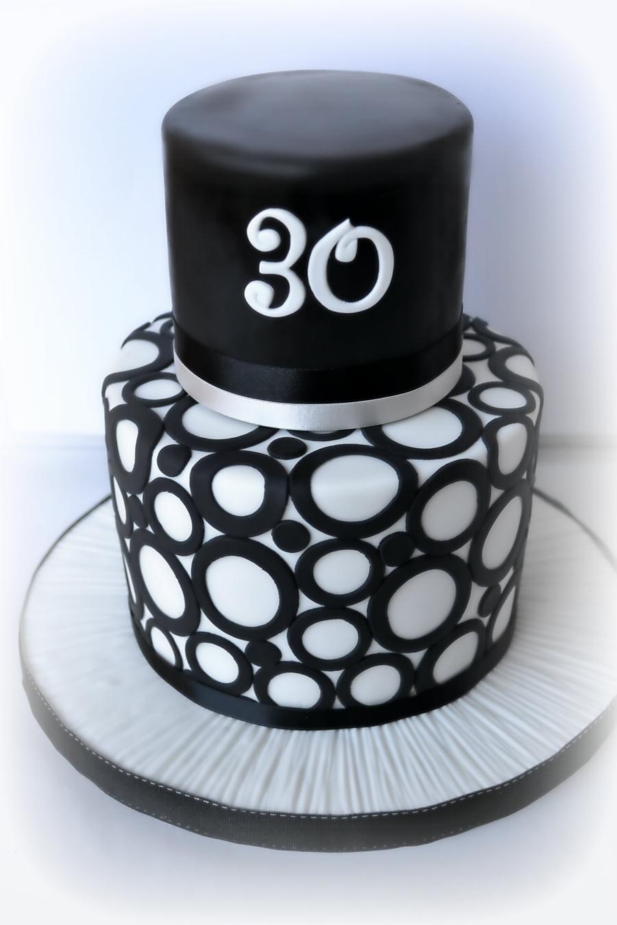 Black Amp White 30th Cakecentral Com