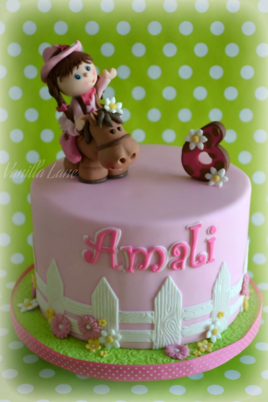 My Little Cowgirl Rode Back Into Town So I Made This Topper And 6 For The Birthday Girl A Couple Of Weeks Ago To Go On Top Of A on Cake Central