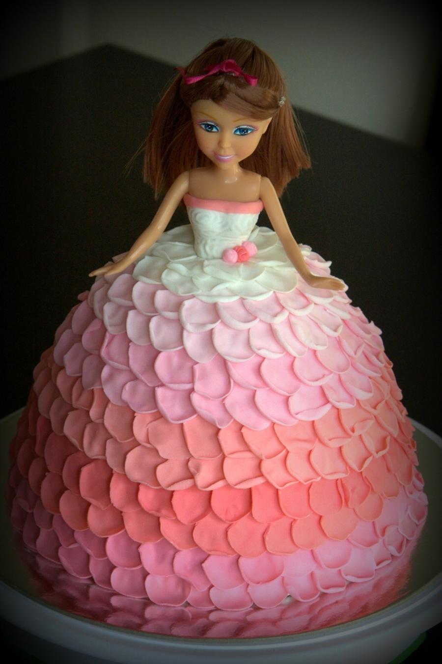 Rose Petal Doll Cake Cakecentral Com