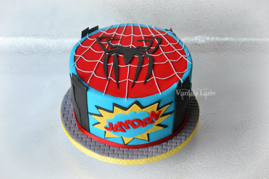 Spiderman Cake For A Spiderman Fan I Did End Up Adding A No 8 To The