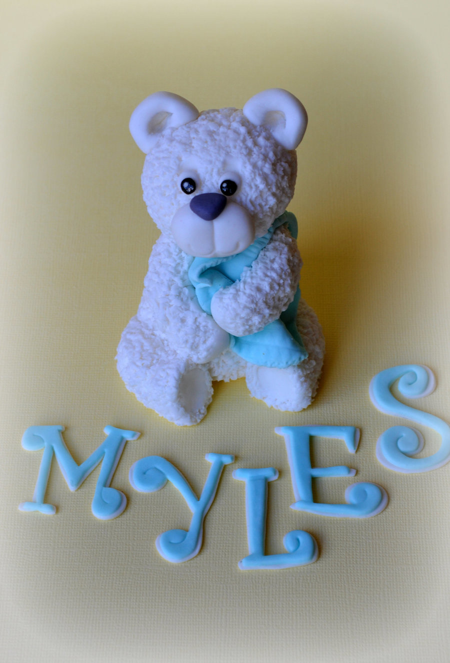 Little Edible Bear Made From Fondant And Cmc Was For A 1St Birthday Cakethe Mum Wanted To Make The Cake Herself But Just Wanted A Littl  on Cake Central