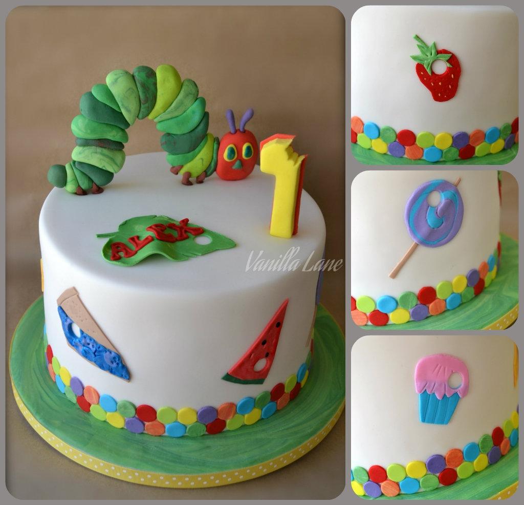 Vanilla Cake Decor : Hungry Caterpillar Themed Cake Cake Was Vanilla With ...