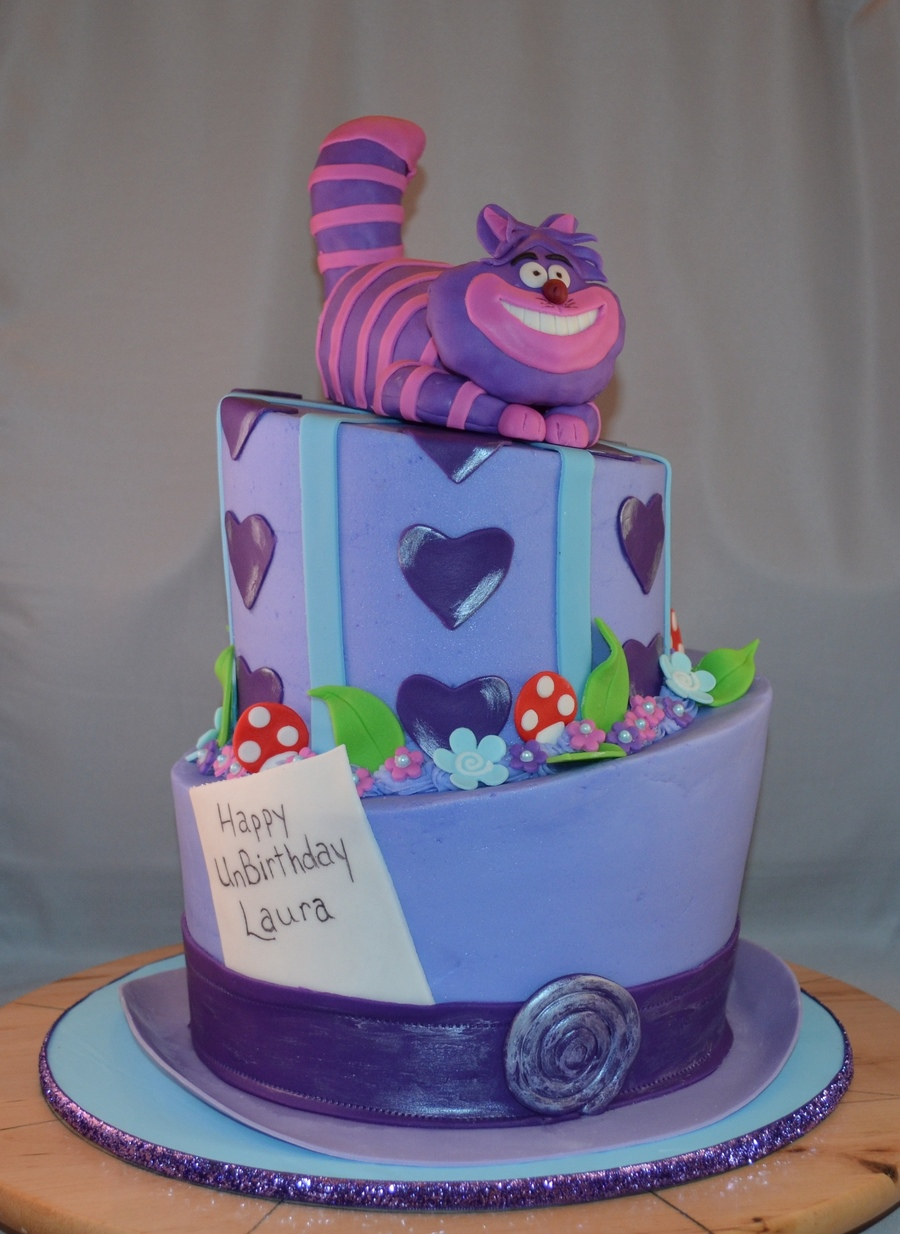 Mad Hatter With Cheshire Cat Carved 3 Layer 9 And 3 Layer 6 Rct And Mmf Cat on Cake Central