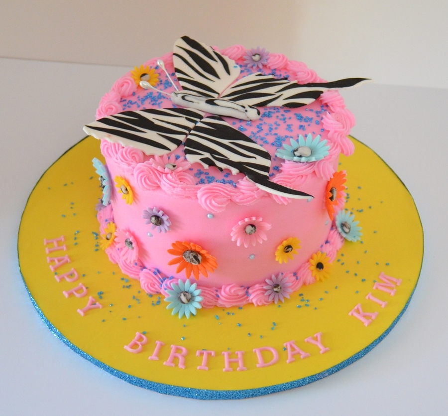 Zebra Butteryfly on Cake Central