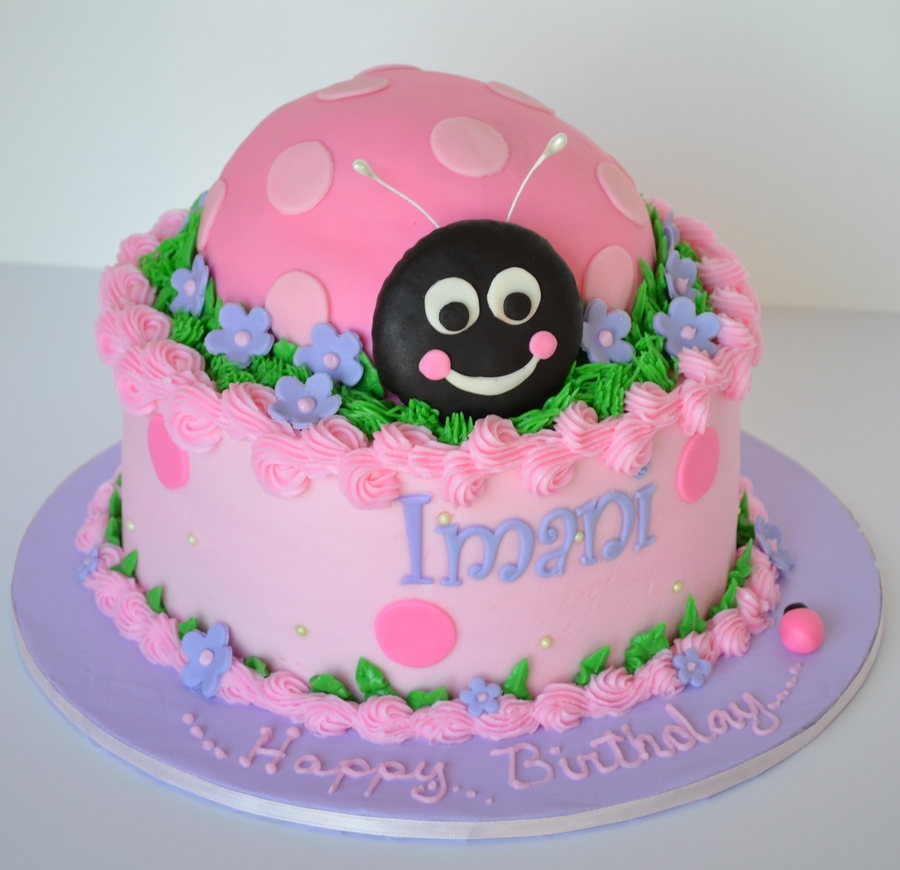 Pink Ladybug  on Cake Central