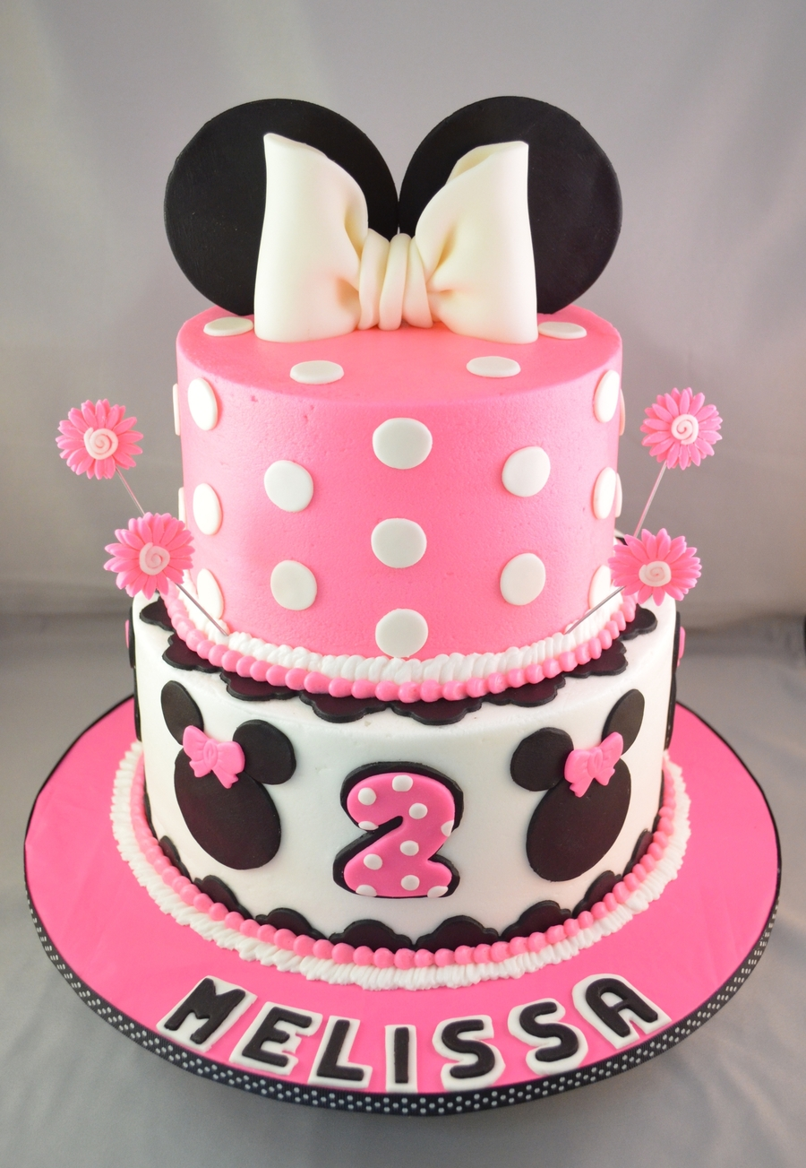 Hot Pink Minnie on Cake Central