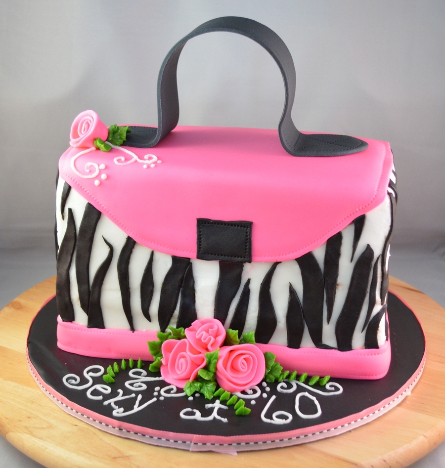 Zebra Purse on Cake Central