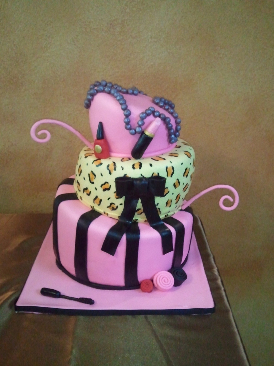 Topsy Turvy Girly on Cake Central