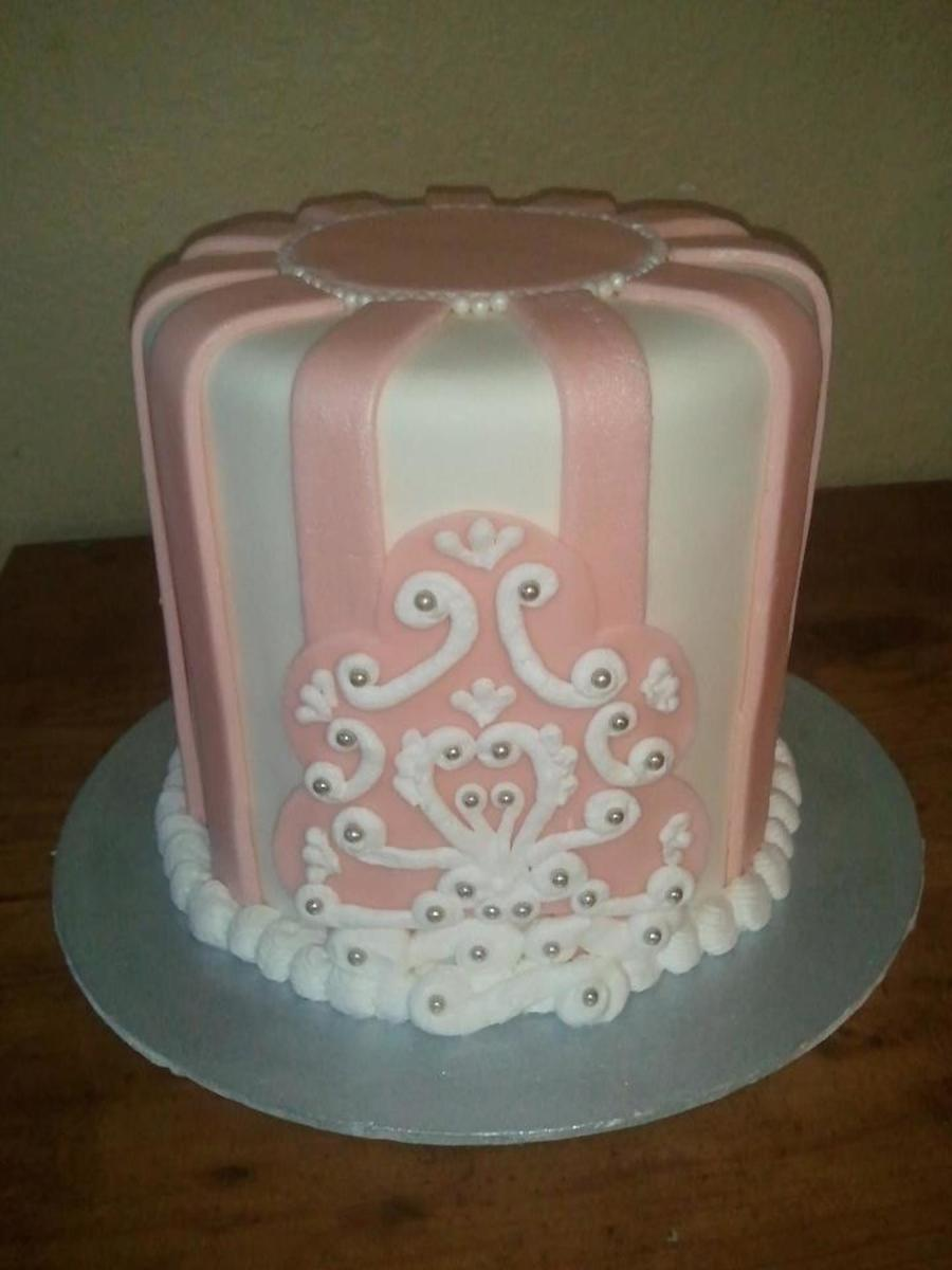 Pink And White Bridal Shower on Cake Central