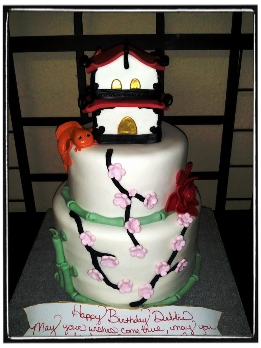 Japanese/asian Garden on Cake Central