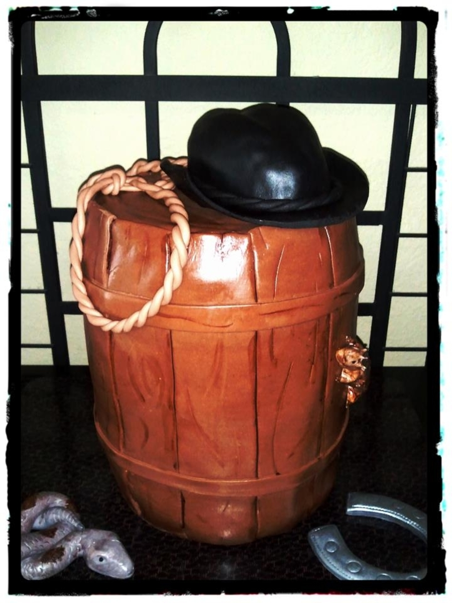 Western Barrel Cake on Cake Central