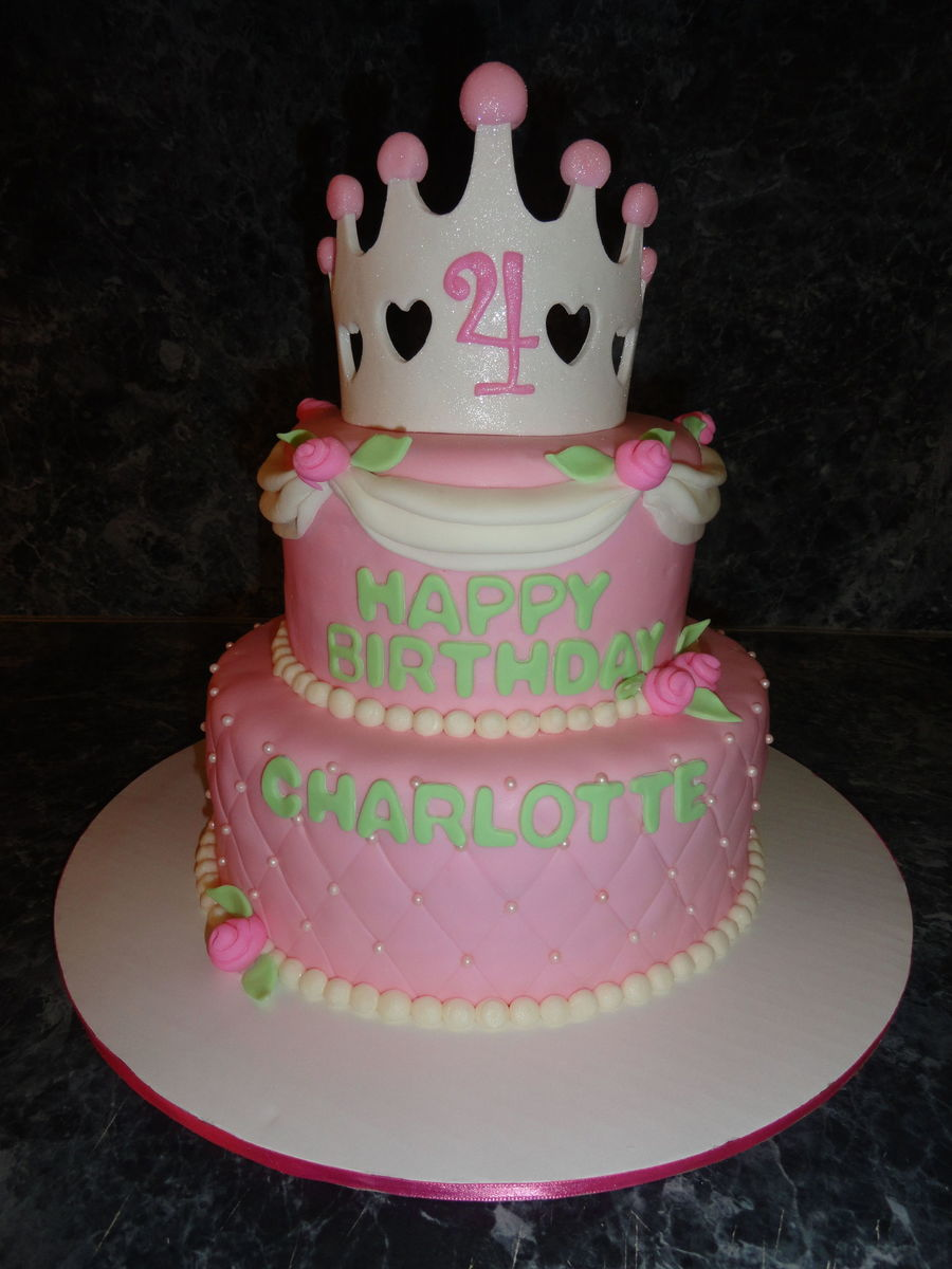 Princess Birthday Cake Strawberry Cake With A Whipped Cream Cheese