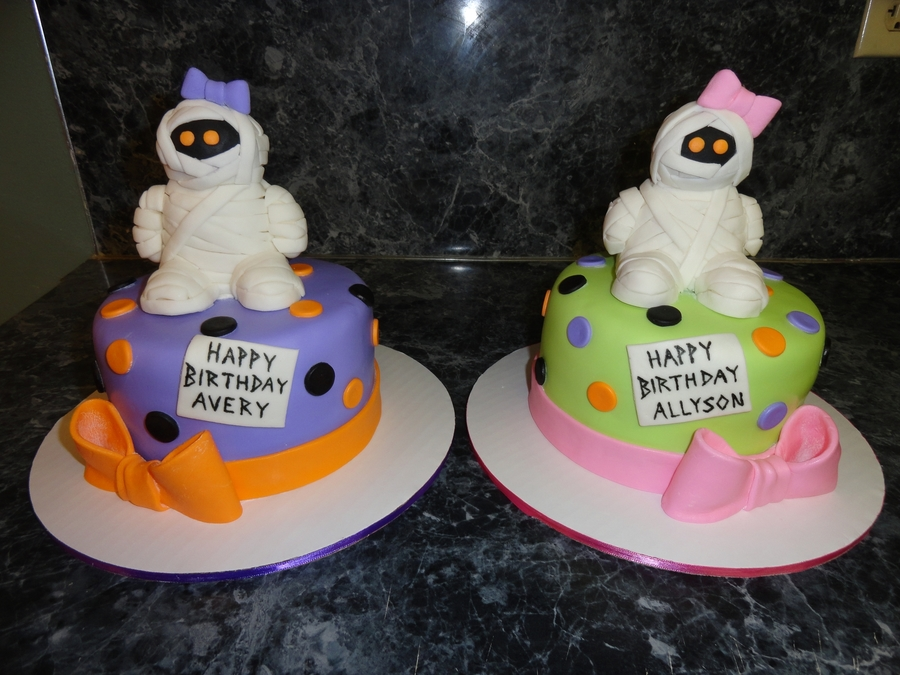 Twin Mummy Birthday Cakes on Cake Central